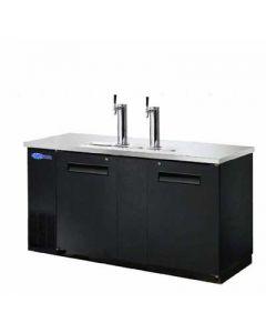 """Beer Dispenser, 69"""", 2-Keg, 2x Solid Doors"""