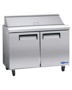 "Salad Prep Table, 48"", 2x Door, Refrigerated, S/S"