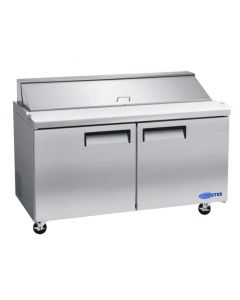 "Salad Prep Table, 60"", 2x Door, Refrigerated, S/S"