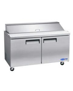 "Salad Prep Table, 60"", 2x Door, Refrigerated, S/S"