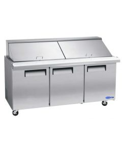 "Salad Prep Table, 72"", Mega-Top, Refrigerated, S/S"