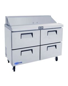 "Salad Prep Table, 48"", 4-Drawer, Refrigerated, S/S"