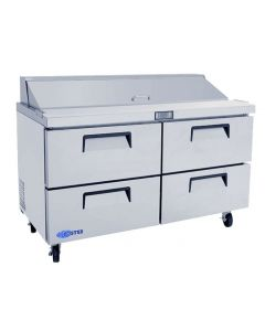 "Salad Prep Table, 60"", 4-Drawer, Refrigerated, S/S"