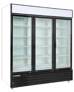 "Display Cooler, 67"", Triple Glass Door, 55ft³"
