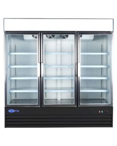 "Freezer, 80"", Reach-in, 3x Glass Doors"