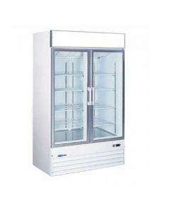 "Merchandiser Cooler, 53"", 2x Glass Swing Doors"