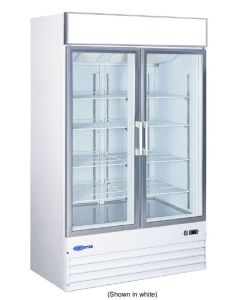 "Freezer, 49"", Reach-in, 2x Glass Door"