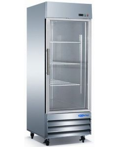 "Refrigerator, 29"", Reach-in, 1x Glass Door, S/S"