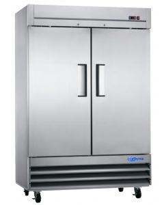 Freezer, Reach-in, 2x Solid Doors, S/S