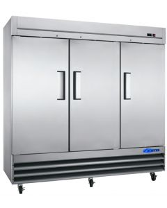 Freezer, Reach-in, 3x Solid Doors, S/S