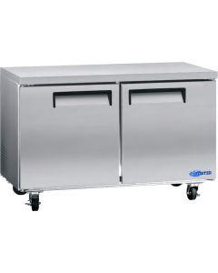 """Refrigerator, 60"""", Undercounter, 2x Solid Doors"""