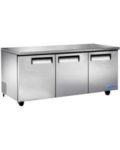 """Refrigerator, 72"""", Undercounter, 3x Solid Doors"""