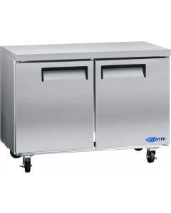 """Refrigerator, 48"""", Undercounter, 2x Solid Doors"""